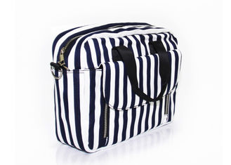 Custom Canvas Washable Shoulder Bag Shoulder Sling Bag Crossbody Black And White Stripes