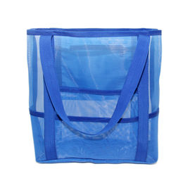 China Customized Fashion Mesh Beach Tote Bag With Nylon Material for Women factory