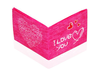 China Sweet Heart Tyvek Paper Wallet Custom Logo Pink Tyvek Mighty Wallet factory