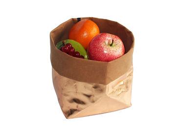 Rose Gold Kraft Paper Storage Bags Custom Printed Logo Food Paper Bag For Storage