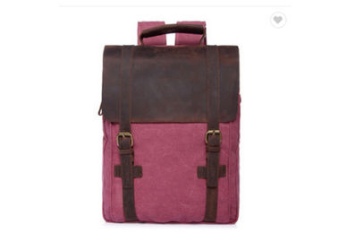 China custom size canvas business laptop backpack good quality scool bag school backpack factory