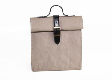China Logo Printing Reusable Lunch Bags Deep Brown Environmentally Friendly Lunch Bag factory