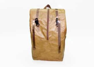 Multi - function waterproof washable paper bags backpack tyvek kraft paper recycle backpack