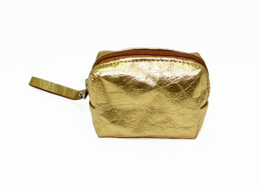 China Metallic color washable kraft paper coin pouch custom ladies mini coin purse with handle factory