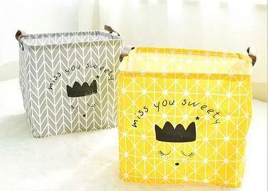 Promotion Big Size Kraft Paper Storage Bags Hamper Basket Canvas With Printing