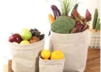 China Multifunction Many Style Kraft Paper Storage Bags Food Paper Storage Sack factory