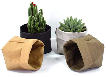 Recycled Kraft Paper Storage Bags Grocery Toys Washable Paper Storage Bags