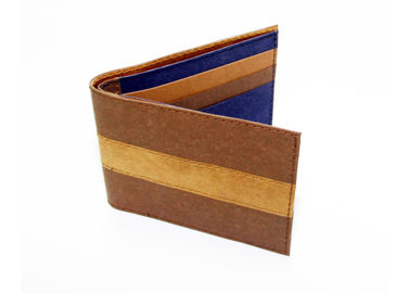 China Stripes Design Kraft Paper Wallet Folding Short Type For Women Or Men factory