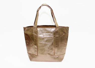 China washable kraft paper tote shopping bags rose gold ladies Hand Tote bags handbags factory