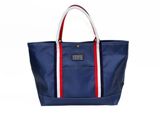 China Nylon Polyester Washable Tote Bags Deep Blue Reusable Tote Shopping Bags factory