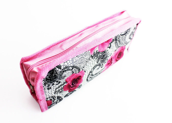 High Capacity Pencil Pouch Bag Cute Printing Polyester Nylon For Gift Pencil Box supplier