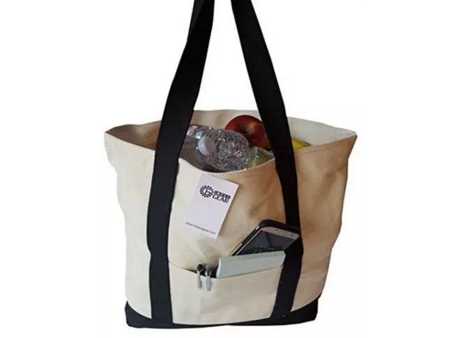 Recycled Premium Large Reusable Shopping Tote Bag Canvas Ladies Hand Bag