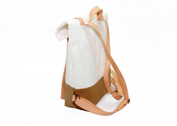 Customized Washable Paper Backpack Recycled Lightweight In Leisure Style