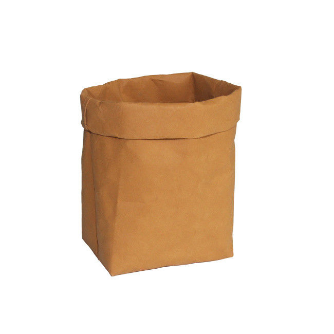 Wholesale Reusable washable kraft paper Plants Bins Organizer Toys Storage Bag