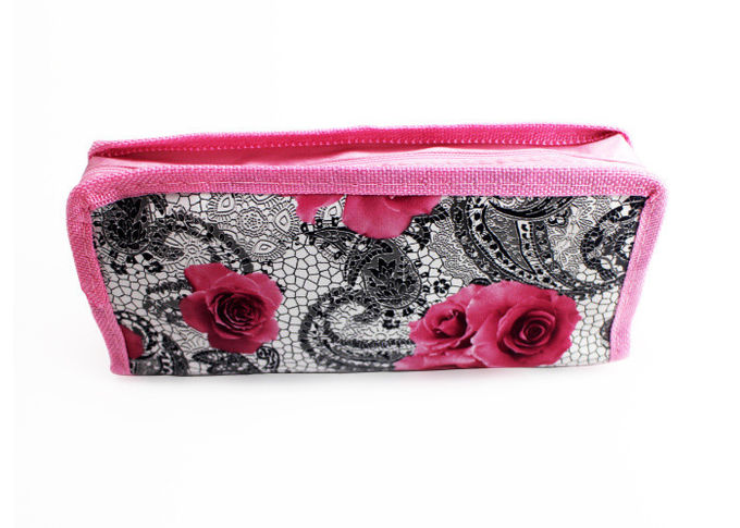 High Capacity Pencil Pouch Bag Cute Printing Polyester Nylon For Gift Pencil Box